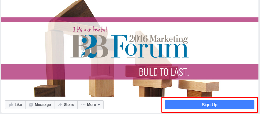 Add a CTA button - Facebook marketing tips