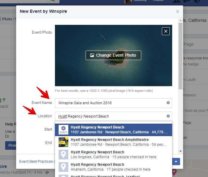 Image result for sample event page facebook