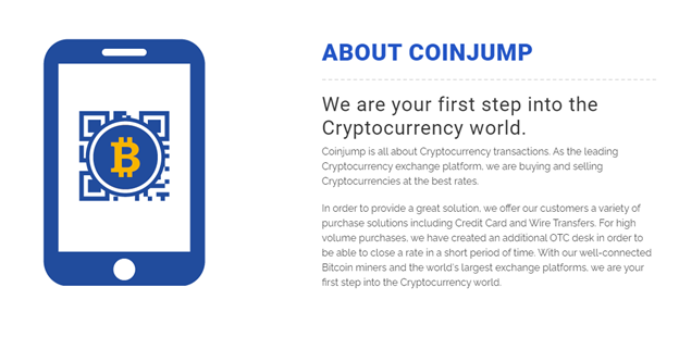 CoinJump crypto exchange benefits