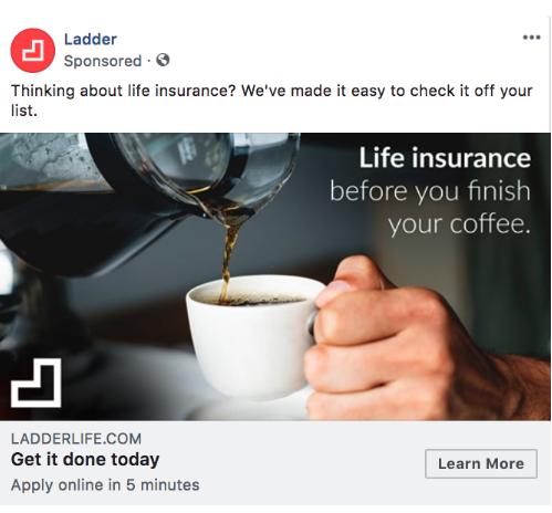 Ladder - Facebook ad example 7