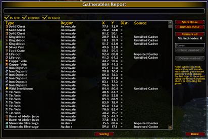 Wow gatherer data download