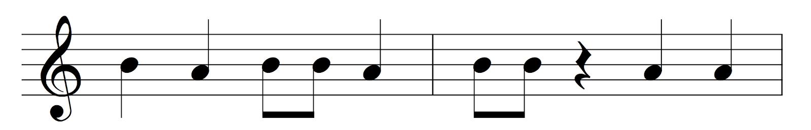 Staff notation - Irish music curriculum