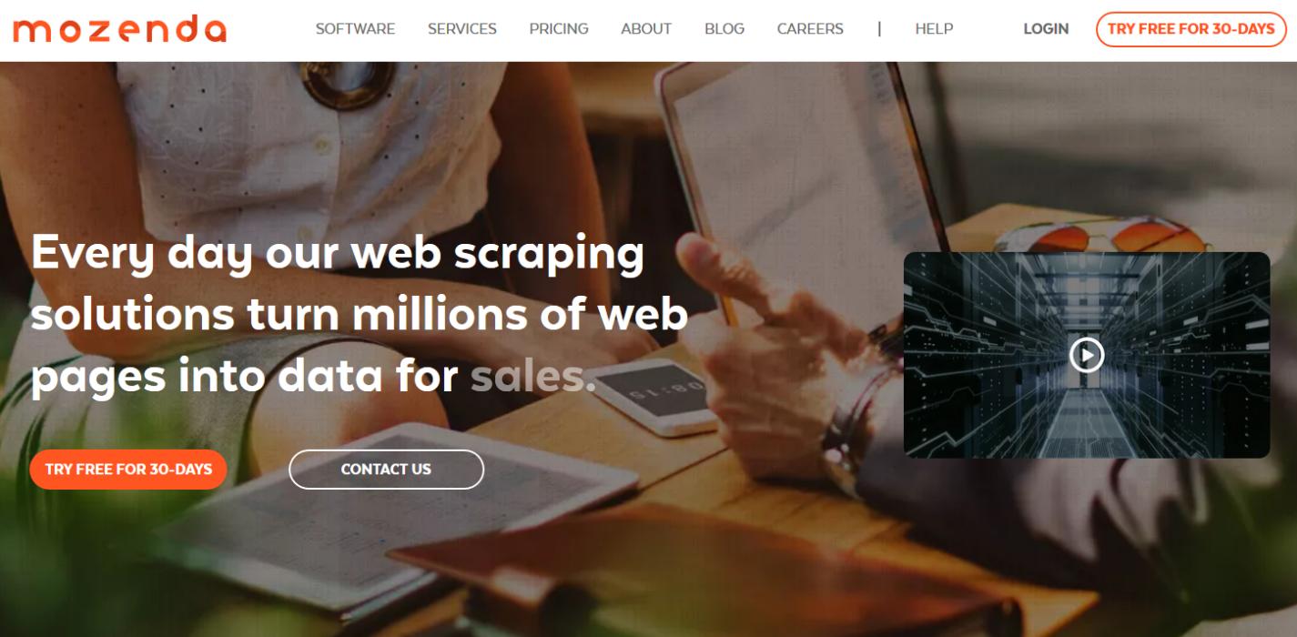 Mozenda – популярный сервис позволяющий работать в облаке