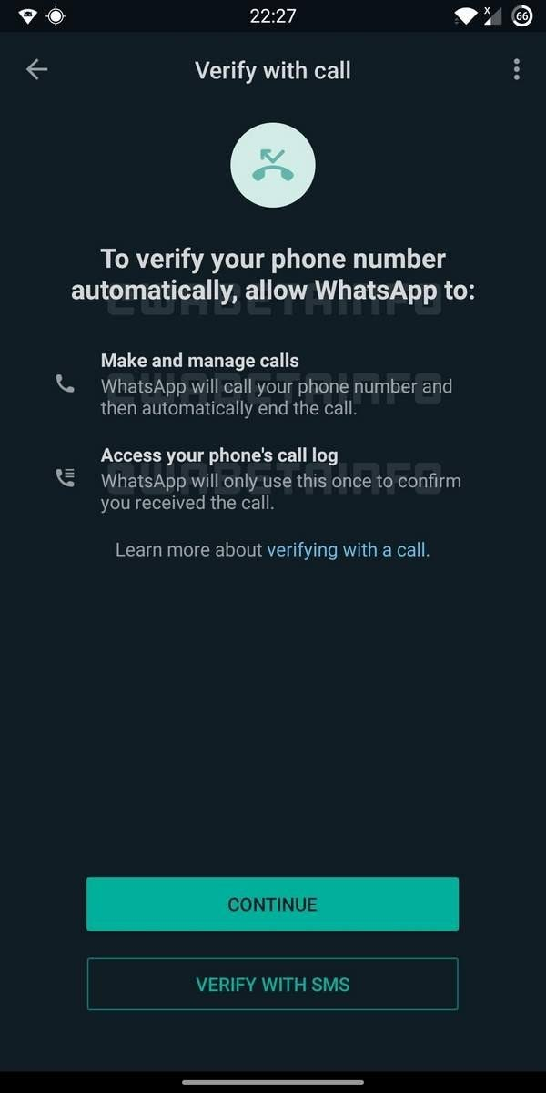 """WhatsApp will soon bring a new feature """"Flash calls"""" to allow its users to verify themselves through a verification call. 2"""