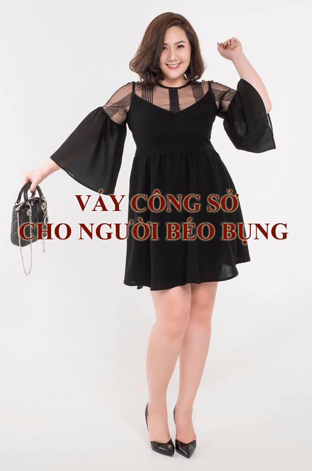 Váy công sở cho người béo bụng
