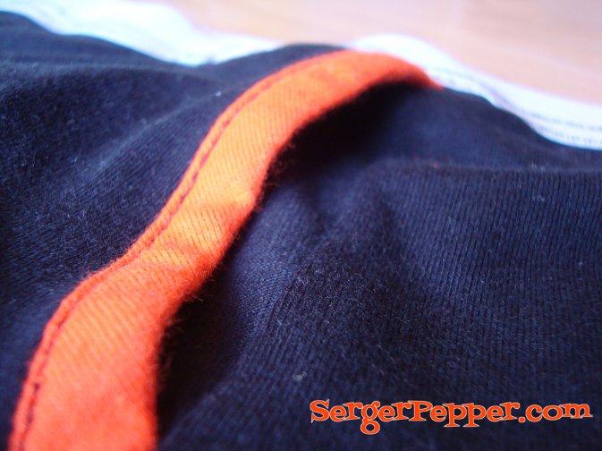 Serger Pepper - Pattern testing - Thread Theory - Comox Trunks - front binding detail