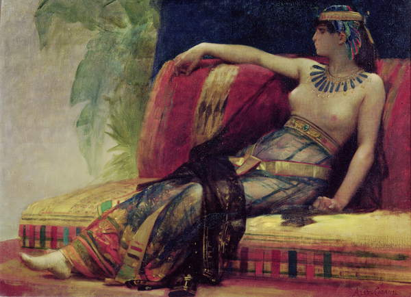 Image of Cleopatra (69-30 BC), preparatory study for 'Cleopatra Testing Poisons on the Condemned Prisoners' (oil on canvas), Cabanel, Alexandre (1823-89) / French, Musee des Beaux-Arts, Beziers, France, © Bridgeman Images