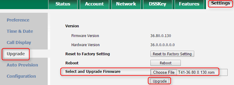 Manually Upgrade the Firmware of your Yealink IP phone