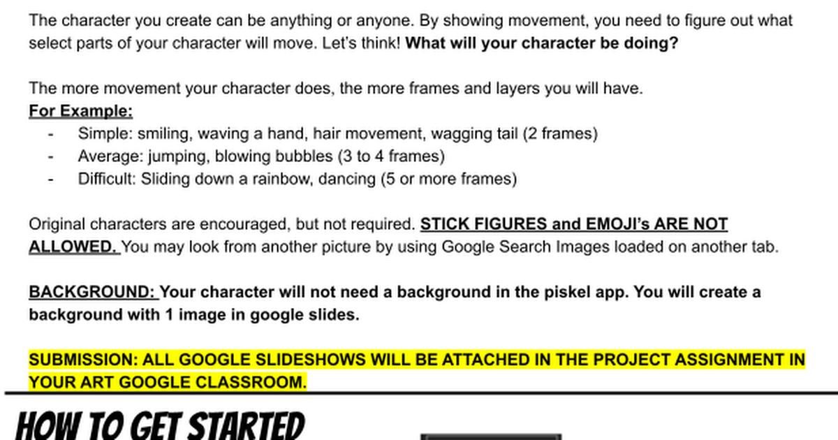 How to Use PiskelApp com - Google Drawings