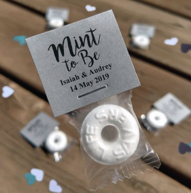 mint wedding favor