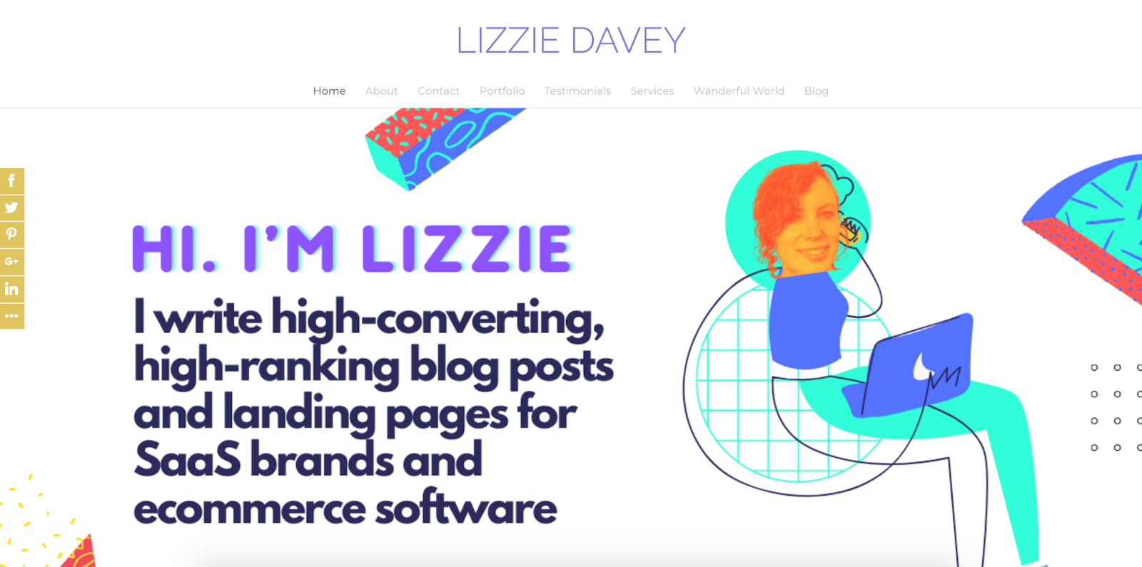 freelance blogger website example