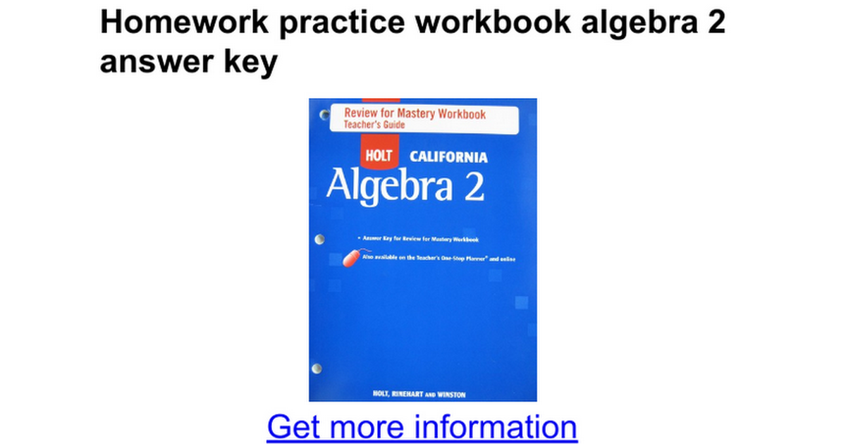 Homework practice workbook algebra 2 answer key google docs fandeluxe Gallery