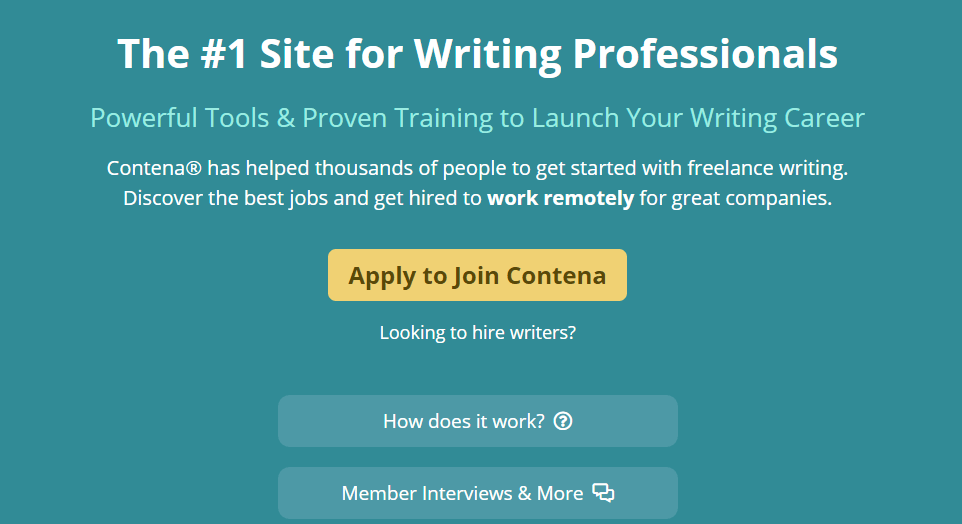 Contena -Freelance Writing Sites for Nigeria Content Writers