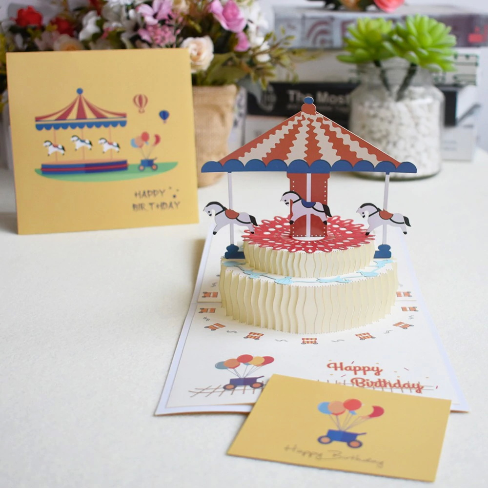 30D Pop Up Cards Birthday Card for Girl Kids Wife Husband Birthday ...