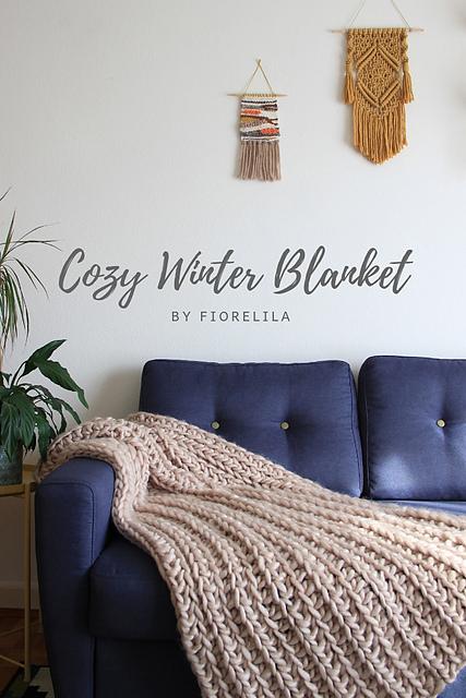 Cozy winter blanket easy beginner crochet blanket pattern