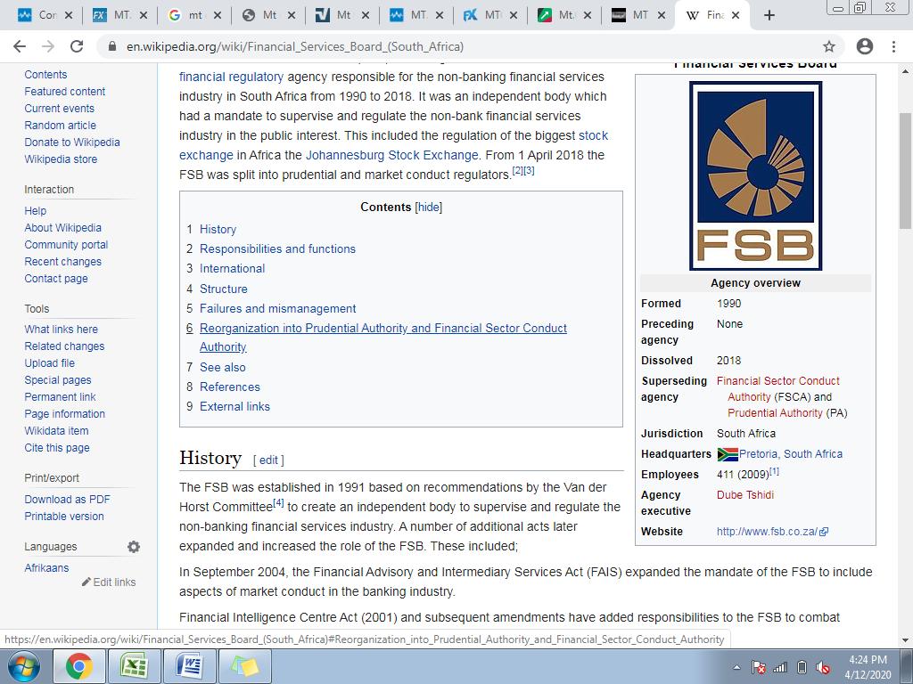Image of FSB's information