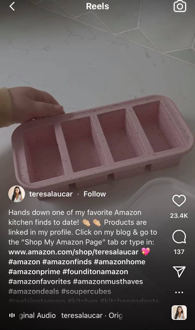 product unboxing on Instagram Reels