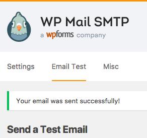 El correo electrónico de prueba de WP Mail SMTP se envió correctamente
