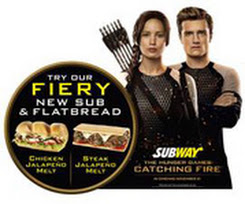 """SUBWAY® teams up with Lionsgate to mark the UK release of """"The Hunger Games: Catching Fire"""""""