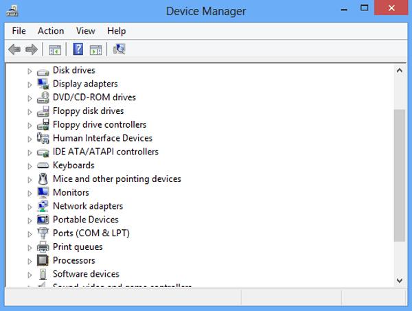 Device admin panel