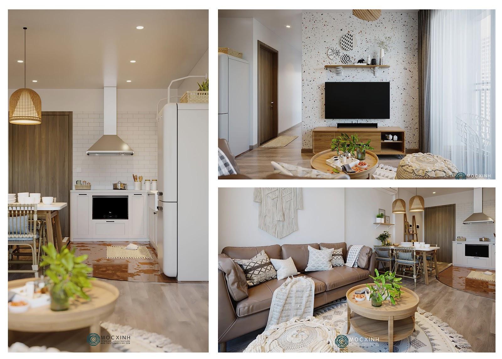 Thiết kế nội thất phòng khách sáng tạo độc đáo