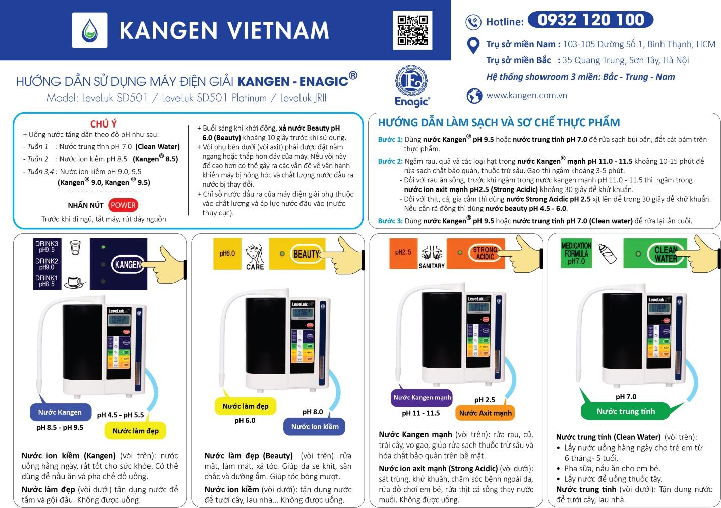 Hướng dẫn sử dụng máy lọc nước ion kiềm Kangen SD501