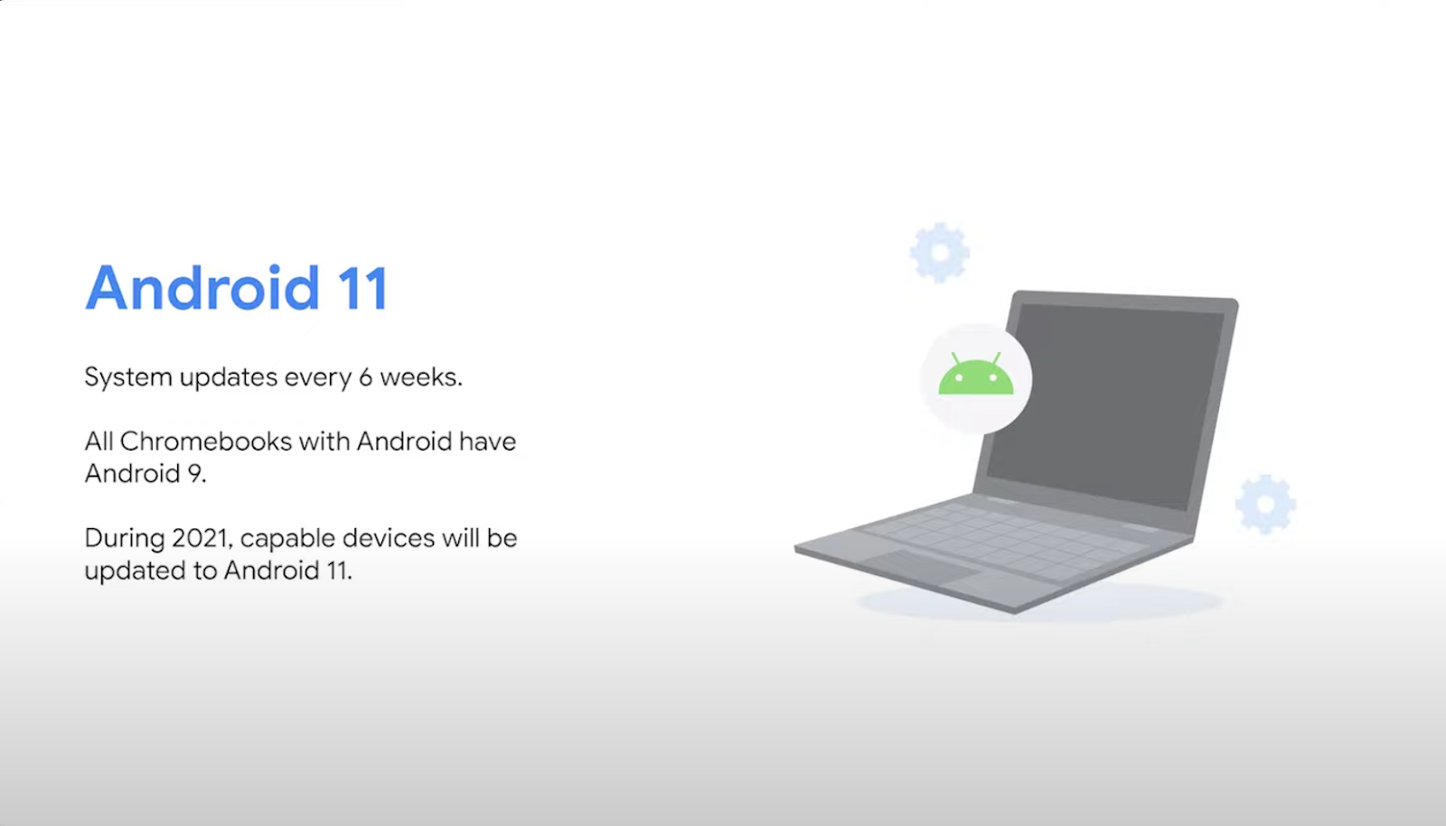 Android 11 sera disponible sur plus de Chromebook en 2021