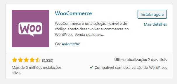plugin woocommerce do wordpress