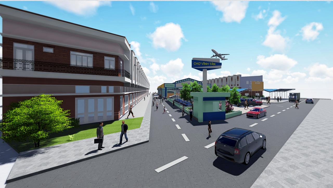 Dự án chợ Vĩnh Tân là do công ty địa ốc hoàng khôi cung cấp