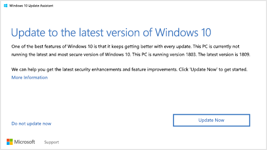 update Windows to the latest version