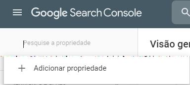 google search console propriedade