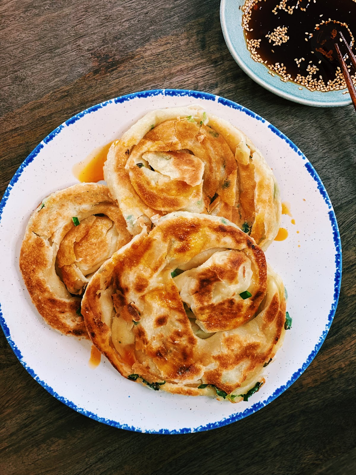 Extra Crispy & Flakey Green Onion Pancake