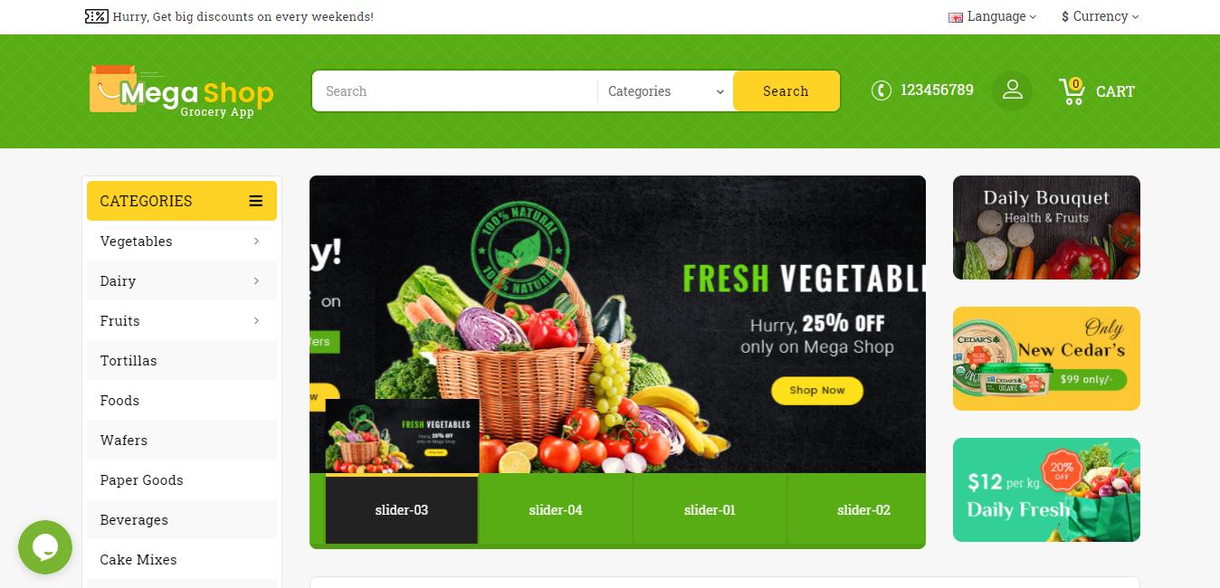 Mega Market Opencart ecommerce theme
