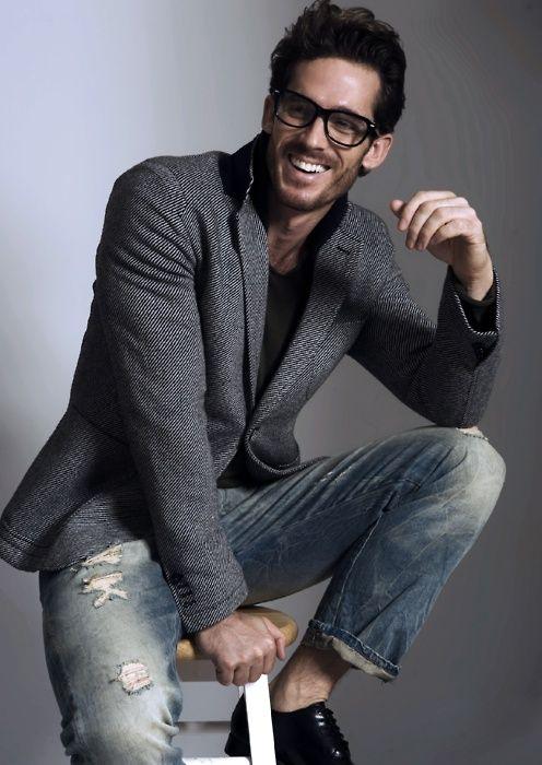man in a grey blazer