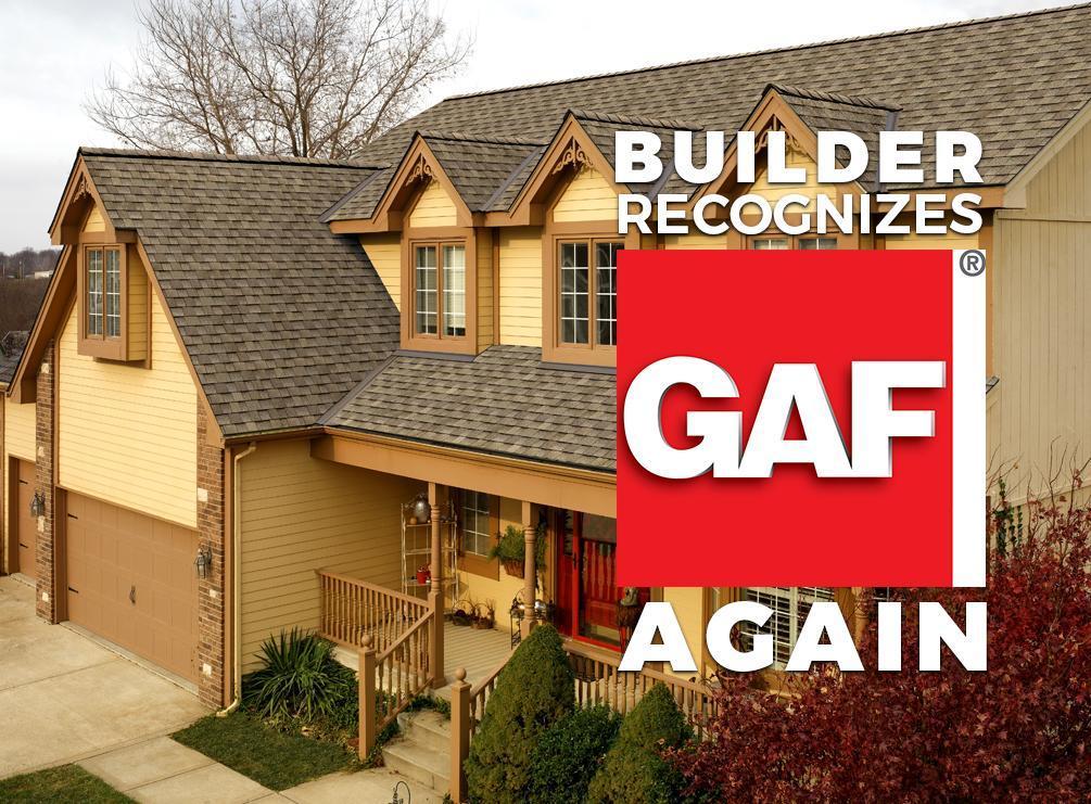 Builder Recognizes GAF Again