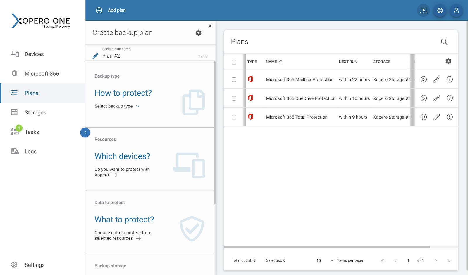 Advanced Microsoft 365 backup plan configuration