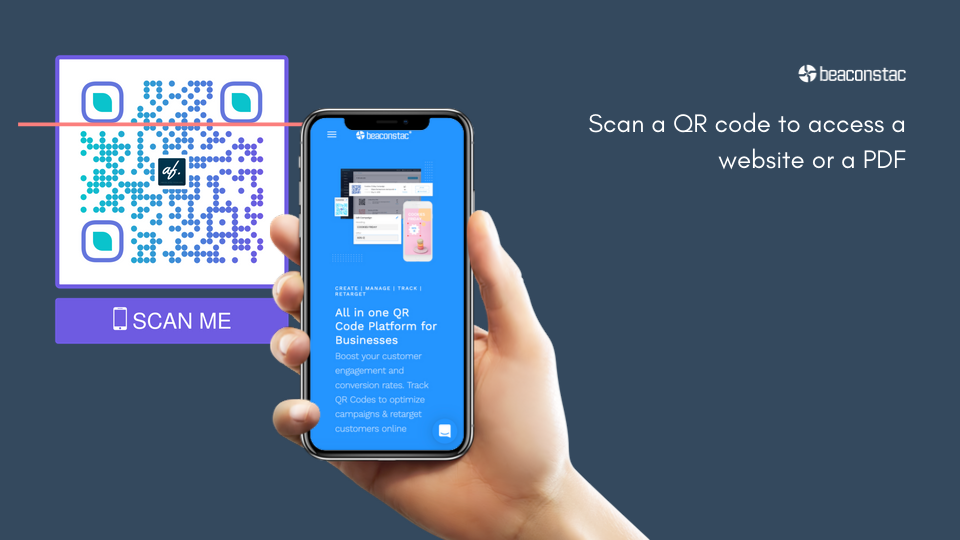 Use QR codes to redirect traffic to website