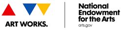 NEA triangles Logo with National Endowment for the Arts