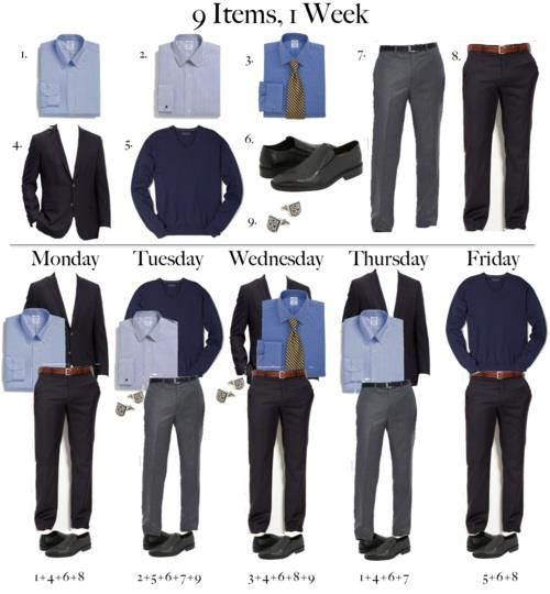 outfit ideas from men's capsule wardrobe