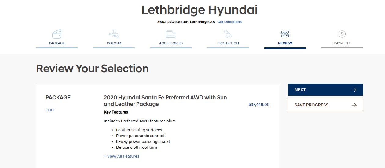 Review your online details with Lethbridge Hyunda online