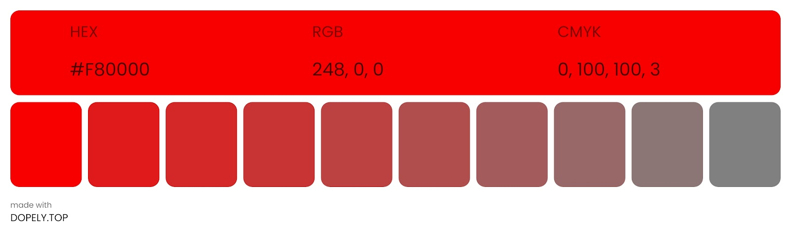 tone of red color