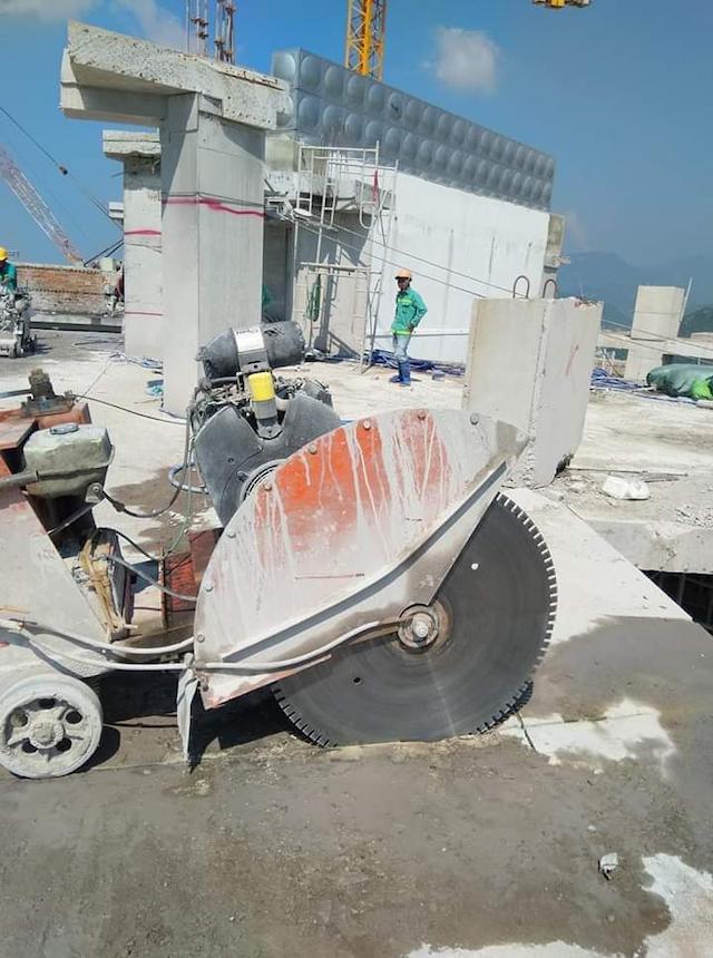 Giá khoan cắt bê tông phụ thuộc vào hạng mục thi công, địa thế công trình