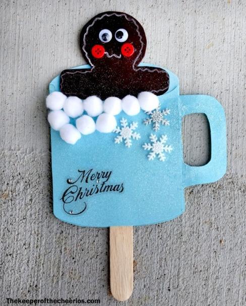 Αποτέλεσμα εικόνας για gingerbread man in a cup from papercraft
