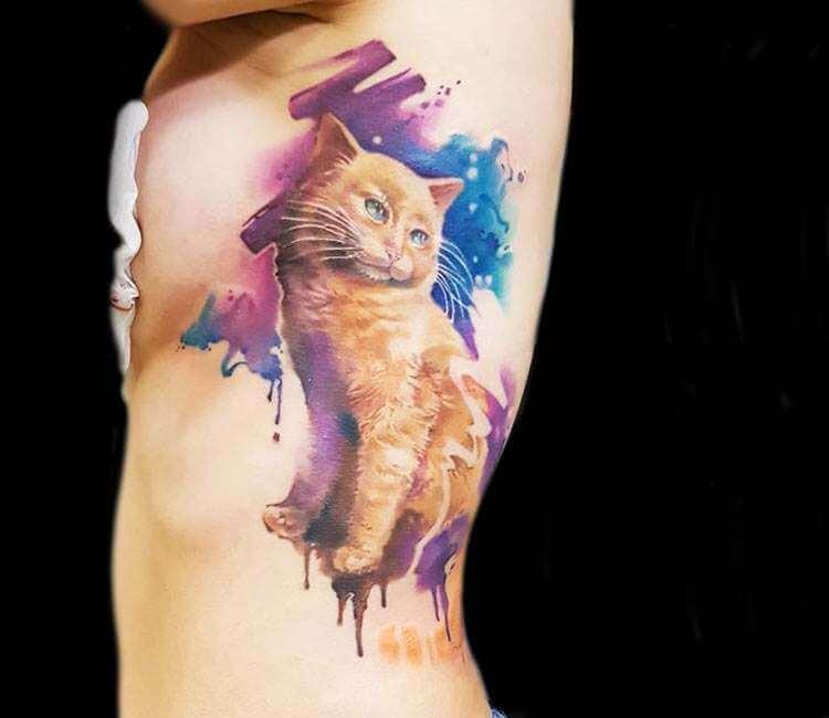 ลายสักแมวสี6