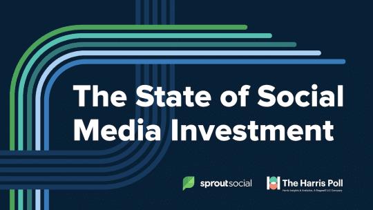 The State of Social Media Investment slide