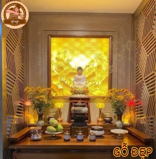 Bàn thờ Phật nên gồm những gì? Vật phẩm bàn thờ Phật