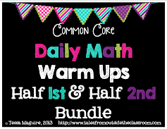 1/2 Bundle Math Warm Up