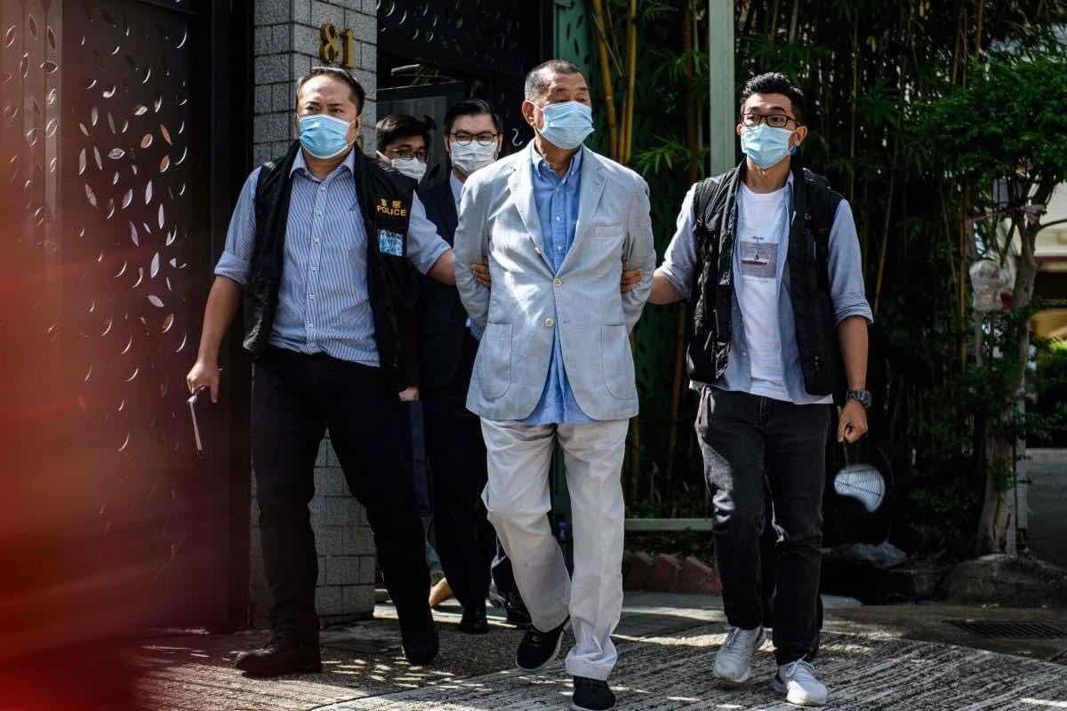 Cảnh sát Hồng Kông bắt ông Jimmy Lai hôm qua