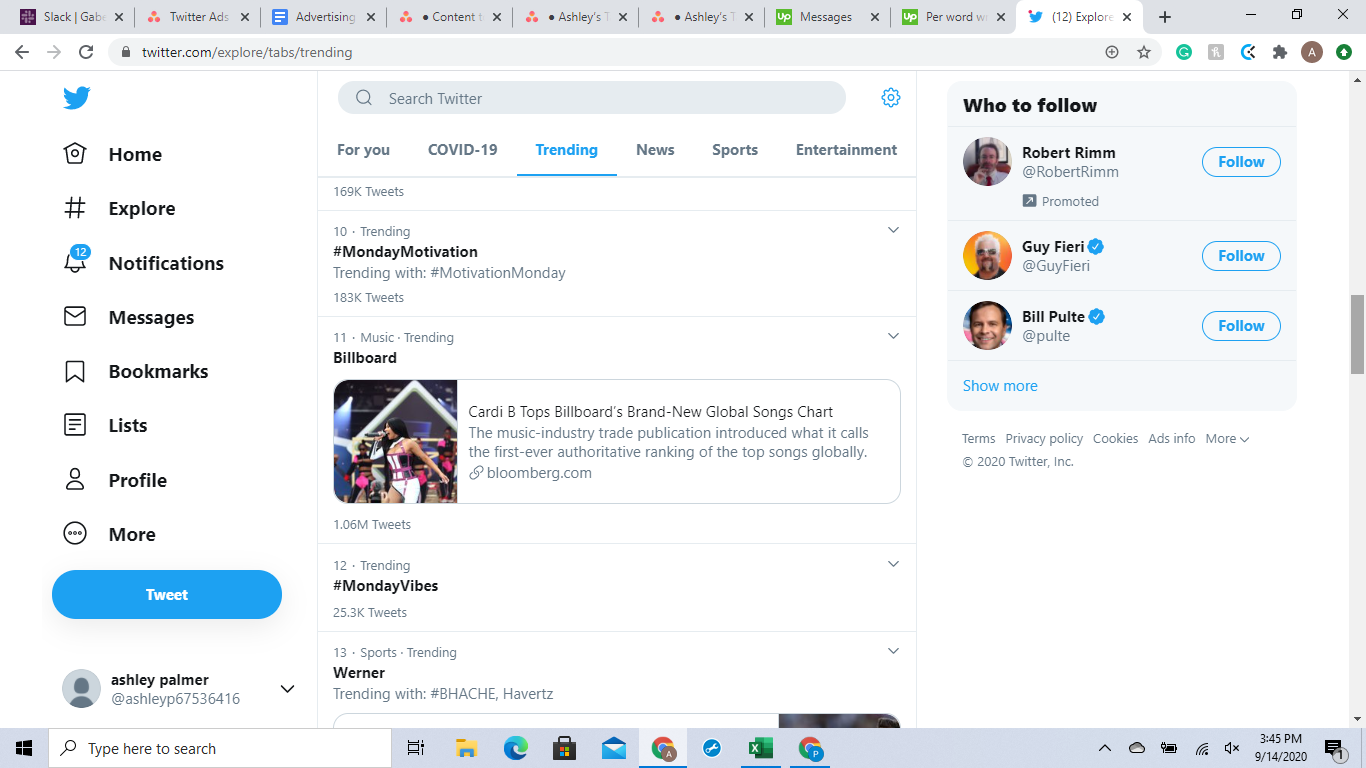 Check out what is trending on Twitter before running ads.