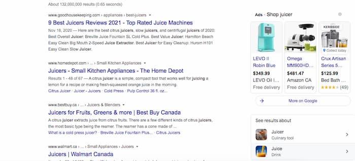Tìm kiếm máy ép trái cây cho thấy sự cạnh tranh gay gắt giữa các gã khổng lồ bán lẻ